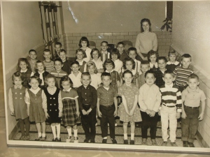 My First Grade Class.  That's me...your far left in the 3rd row.