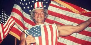 Arnold 1st day as American