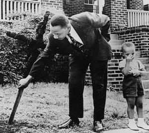 Martin Luther King Jr and son