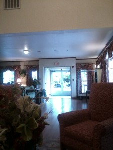 My hotel lobby in Portland