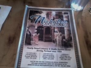 """Nicolas"" restaurant in Portland - Middle Eastern Food!"